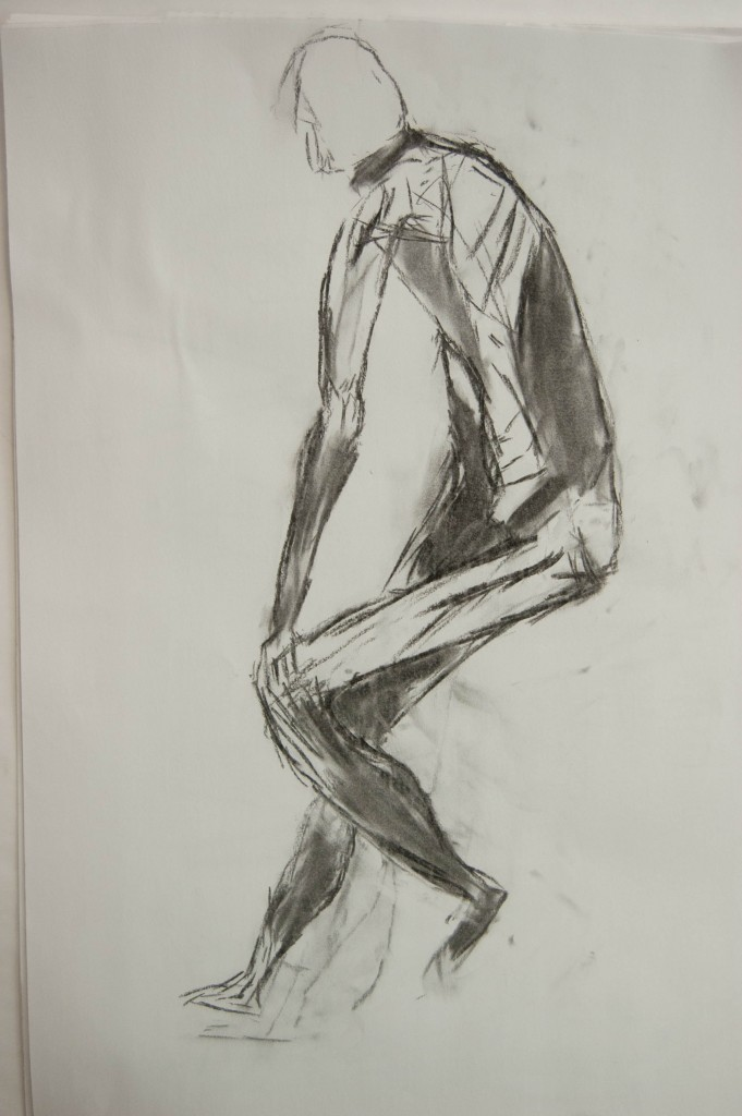 Farhi Charcoal Drawing of Man